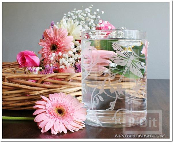 แจกันดอกไม้ ระบายสีสวย