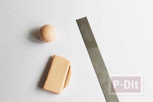 รูป 3 แม็กเน็ตติดตู้เย็น ลายหกเหลี่ยม ทำจากดินน้ำมัน