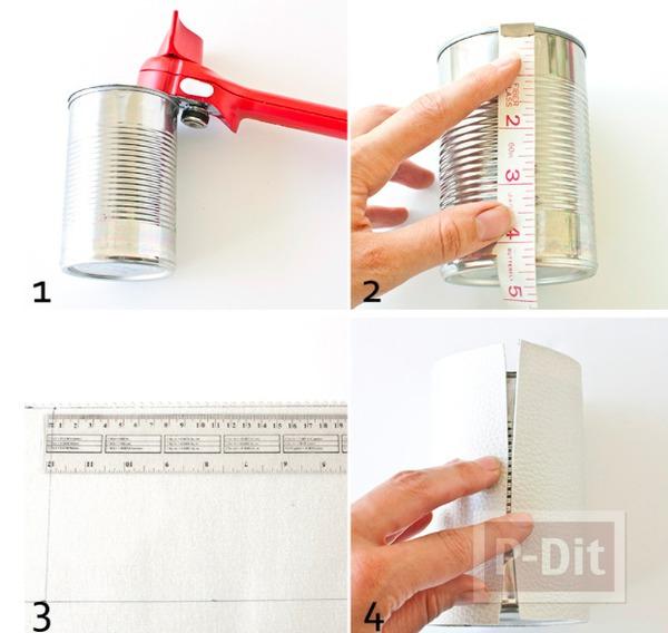 รูป 3 สอนทำที่ใส่ดินสอ จากแผ่นหนังเทียม