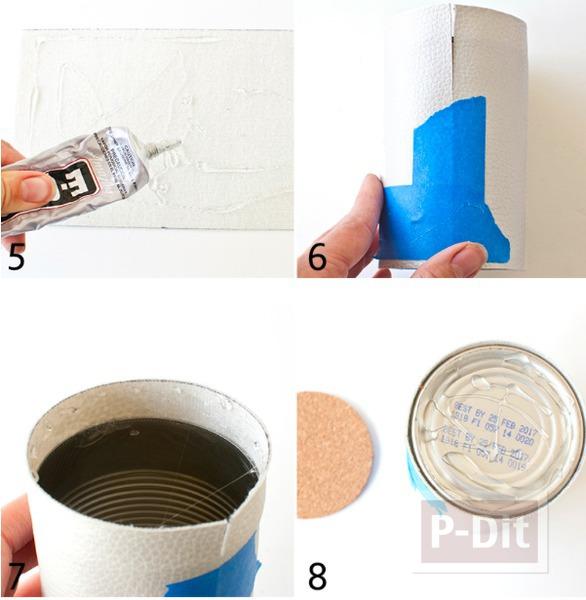 รูป 4 สอนทำที่ใส่ดินสอ จากแผ่นหนังเทียม