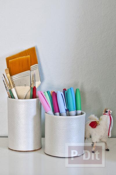 รูป 6 สอนทำที่ใส่ดินสอ จากแผ่นหนังเทียม