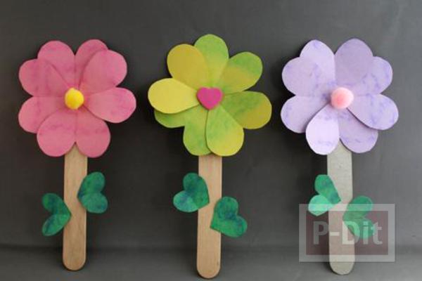 ไม้ไอติม ทำดอกไม้สวยๆ
