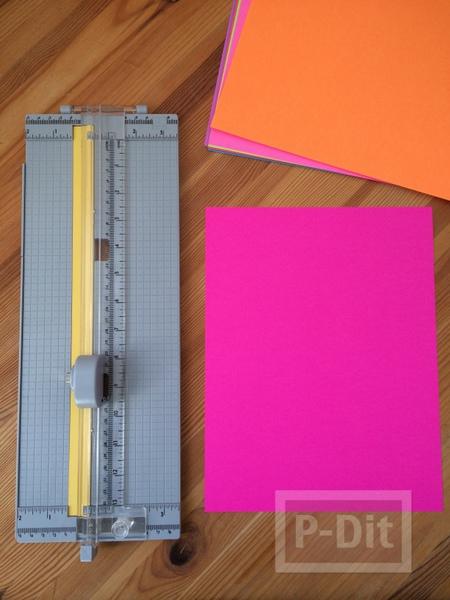 รูป 6 สอนทำที่คั่นหนังสือ จากกระดาษสีสด
