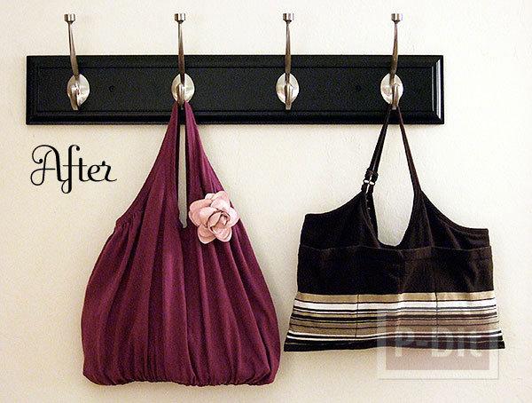 เย็บถุงผ้า จากเสื้อยืด