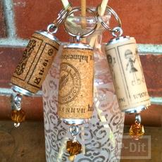 พวงกุญแจ ทำจากไม้ก๊อก จุกไวน์