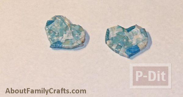 รูป 7 ปูสีฟ้า ทำจากที่ใส่โยเกิร์ต