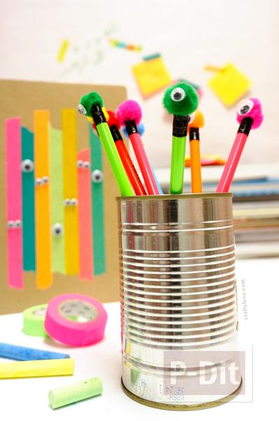 ดินสอไม้ ประดับลายสัตว์ประหลาด