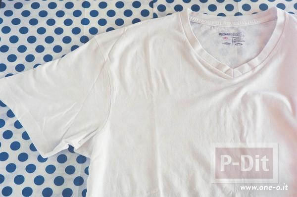 รูป 3 เสื้อยืด วาดลายแตงโม จากมันฝรั่ง