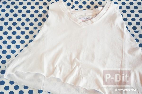 รูป 4 เสื้อยืด วาดลายแตงโม จากมันฝรั่ง