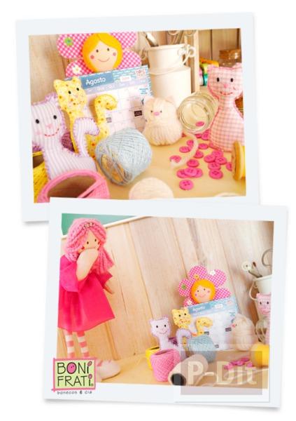 รูป 2 แพทเทิร์นตุ๊กตาแมว ตัวเล็กๆน่ารักๆ ประดับบ้าน