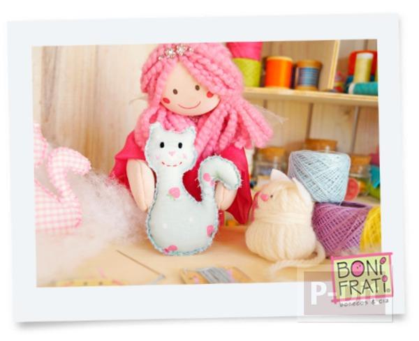 รูป 6 แพทเทิร์นตุ๊กตาแมว ตัวเล็กๆน่ารักๆ ประดับบ้าน