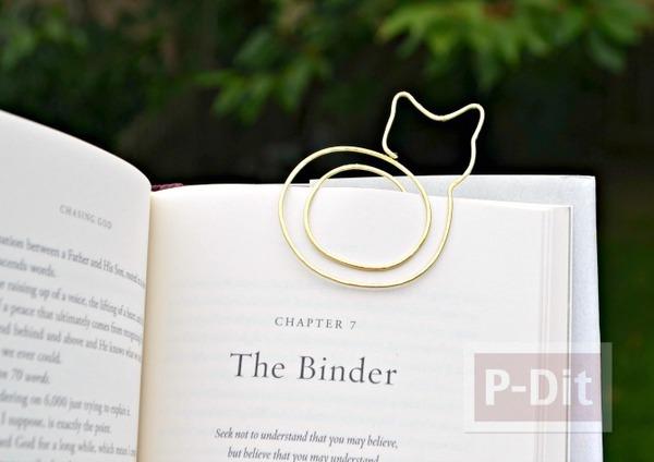 ที่คั่นหนังสือลายแมวเหมียว ทำจากลวด