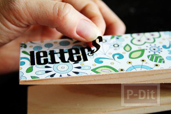 รูป 2 ประดิษฐ์ที่หนีบกระดาษ จากไม้หนีบผ้า ประดับกระดาษลายสวย