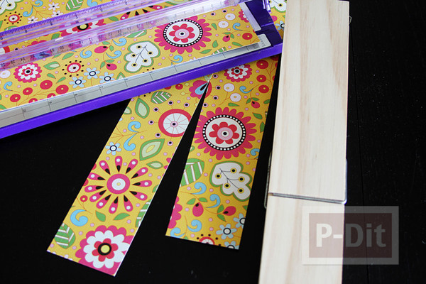 รูป 5 ประดิษฐ์ที่หนีบกระดาษ จากไม้หนีบผ้า ประดับกระดาษลายสวย