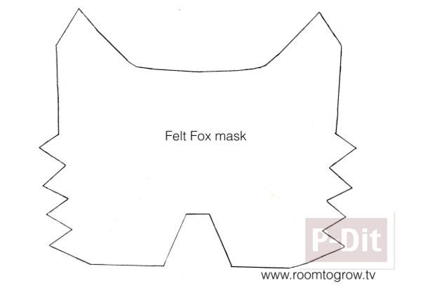 รูป 2 หน้ากากสุนัขจิ้งจอก ทำจากกระดาษ