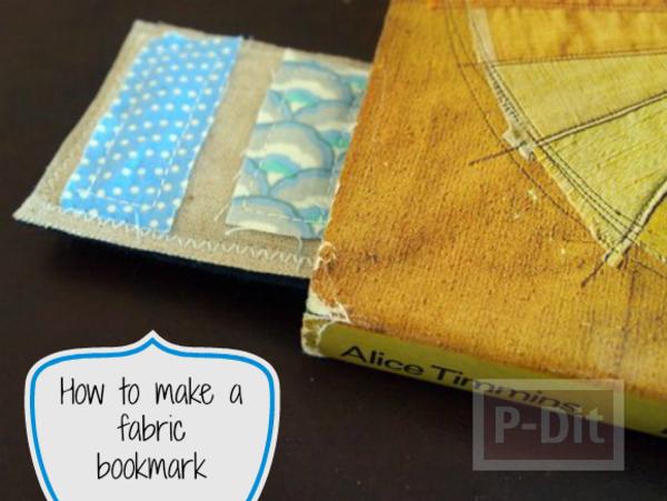 รูป 1 ที่คั่นหนังสือสวยๆ ทำจากเศษผ้า เย็บลายง่ายๆ