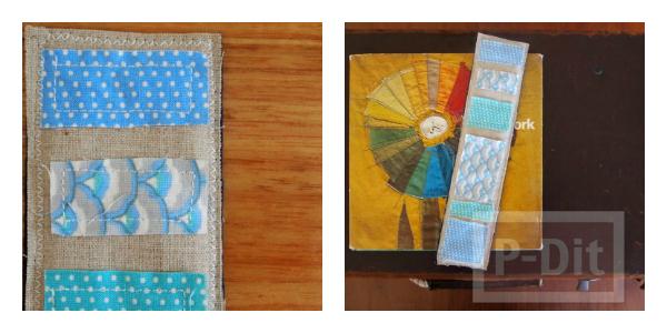 รูป 4 ที่คั่นหนังสือสวยๆ ทำจากเศษผ้า เย็บลายง่ายๆ