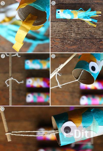 รูป 4 ตกแต่งปลาสีสวย จากกระดาษสีสดใส
