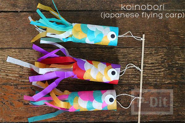 รูป 5 ตกแต่งปลาสีสวย จากกระดาษสีสดใส