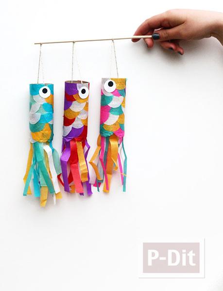 รูป 6 ตกแต่งปลาสีสวย จากกระดาษสีสดใส