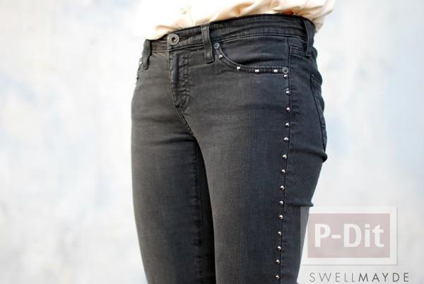 รูป 2 กางเกงยีนส์สวยๆ ตกแต่งด้วยหมุด