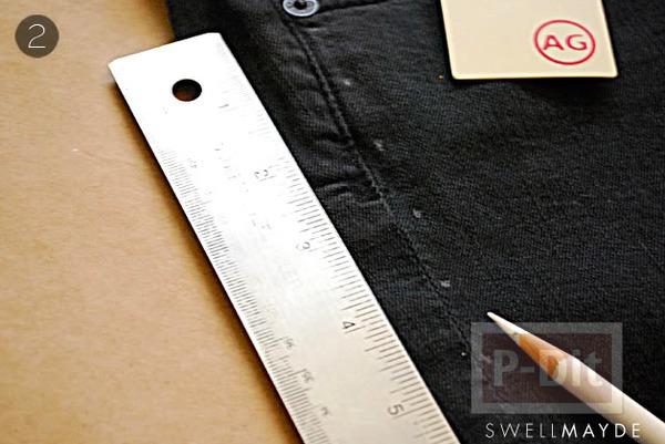 รูป 5 กางเกงยีนส์สวยๆ ตกแต่งด้วยหมุด