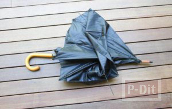 รูป 4 ที่แขวนกระเป๋า แขวนหมวก ทำจากก้านร่ม