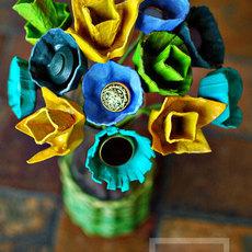 ดอกไม้สวยๆ ทำจากรังไข่กระดาษ