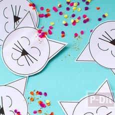 ไอเดียทำที่ห่อกระดาษสีสดใส ลายแมวเหมียว