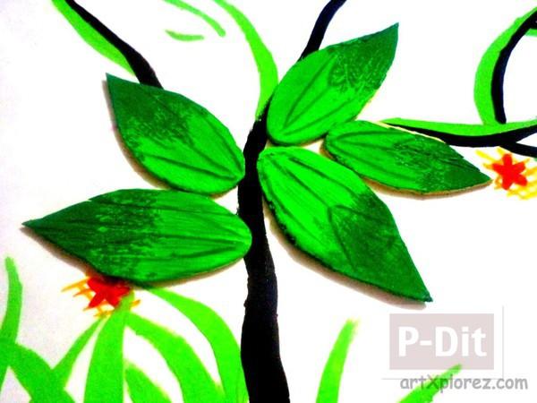 รูป 5 ดอกไม้สวยๆ ทำจากไม้ไอติม