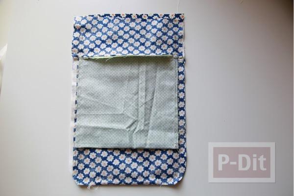 รูป 6 กระเป๋าสะพาย ทำจากกางเกงยีนส์ ตกแต่งเศษผ้า