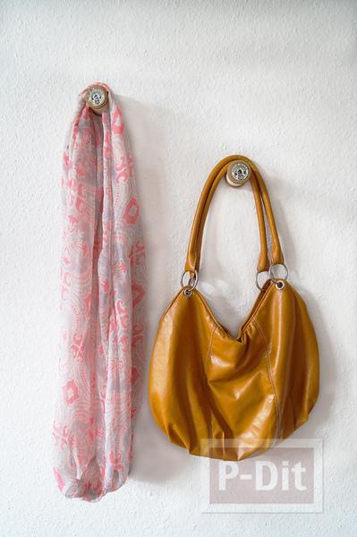 รูป 1 สอนทำที่แขวนกระเป๋า แขวนผ้า จากหลอดด้าย