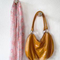 สอนทำที่แขวนกระเป๋า แขวนผ้า จากหลอดด้าย