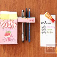 ที่ใส่ดินสอ กระดาษโน๊ต ทำจากกล่องขนม