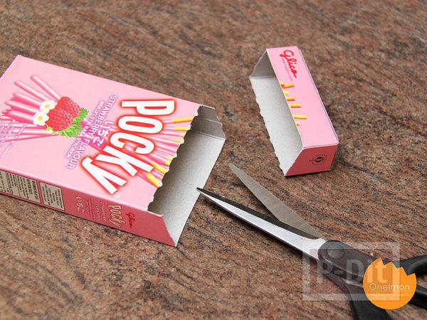 รูป 4 ที่ใส่ดินสอ กระดาษโน๊ต ทำจากกล่องขนม