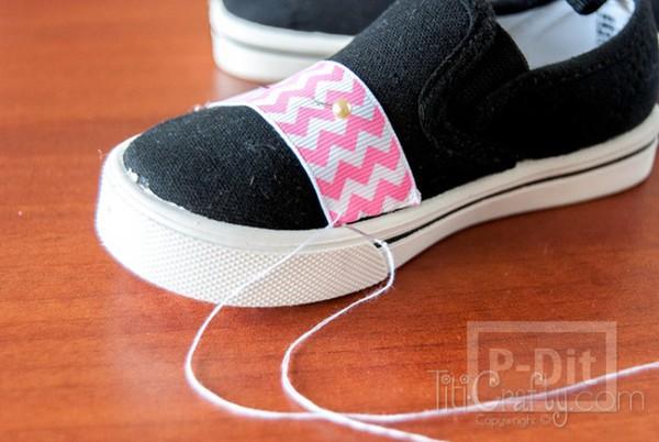 รูป 5 รองเท้าผ้า ประดับริบบิ้นสีสดใส