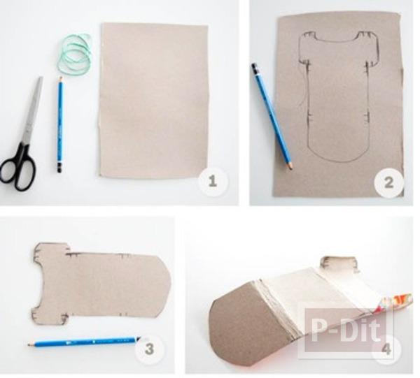 รูป 2 กระเป๋าสตางค์ ทำจากกล่องขนม สีสด