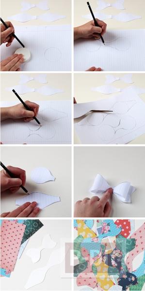 รูป 5 โบว์ห่อของขวัญ ทำจากกระดาษ