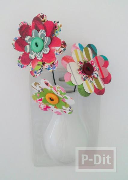 รูป 1 พับกระดาษทำดอกไม้ สวยๆ
