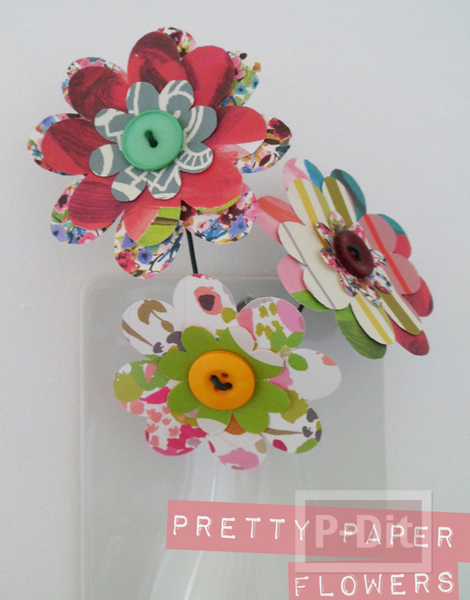 รูป 3 พับกระดาษทำดอกไม้ สวยๆ