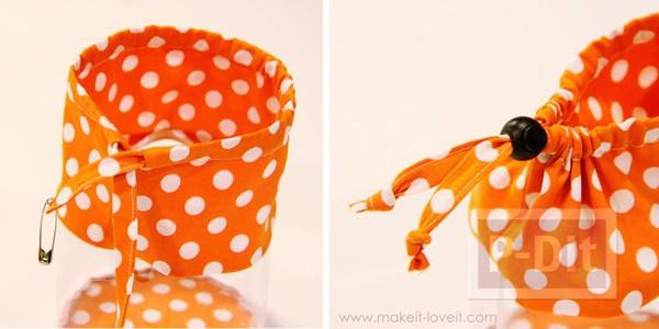 รูป 4 ถุงใส่ของเล่น ทำจากผ้า และพลาสติก