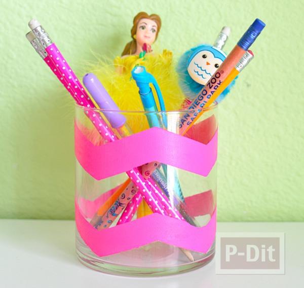 ทำที่ใส่ดินสอ ปากกา ลายสวย
