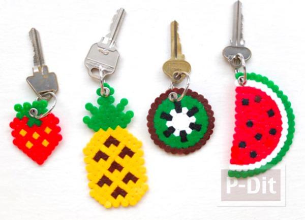 รูป 1 พวงกุญแจสวยๆ ลายผลไม้
