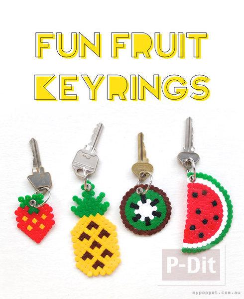 รูป 4 พวงกุญแจสวยๆ ลายผลไม้