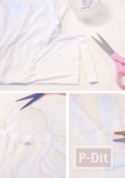 รูป 3 เสื้อยืดสีขาว ประดับเม็ดมุก