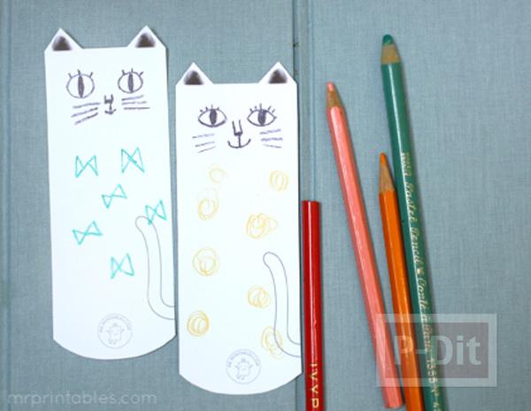 รูป 2 ที่คั่นหนังสือ ลายแมวเหมียว