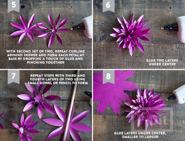 รูป 5 แพทเทิร์นดอกไม้กระดาษแสนสวย ห่อของขวัญ ทำช่อดอกไม้