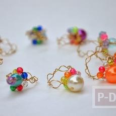 แหวนสวยๆ ทำจากลวดและลูกปัด