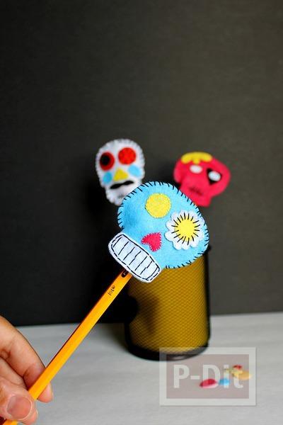 รูป 3 ปลอกหุ้มดินสอ ลายฮาโลวีน