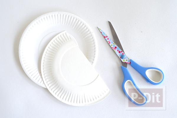 รูป 2 ประดิษฐ์ที่ใส่ของ จากจานกระดาษ